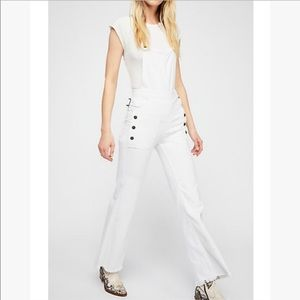 Free People Sparrow Utility Denim Overalls